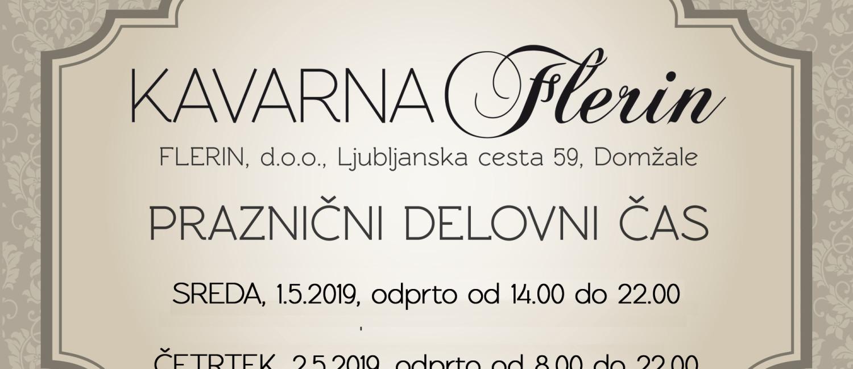 delovni cas Kavarna Flerin prazniki 2019-1